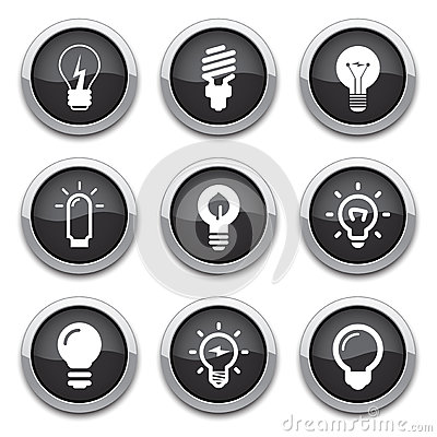 Free Light Bulb Buttons Stock Photo - 25269800