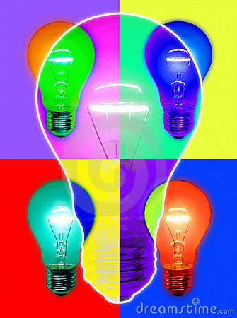 Light Bulb Colorful Colors