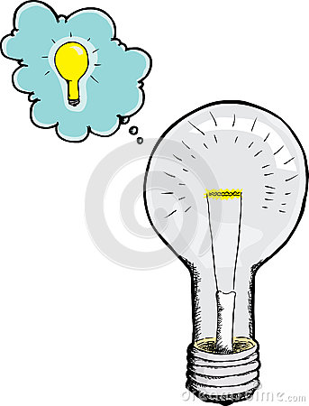 Light Bulb Gets An Idea