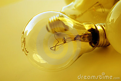 Light Bulb in golden mood