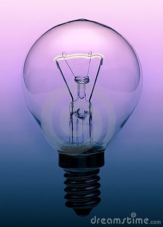 Light bulb on gradient