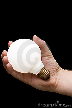 A light bulb in a hand
