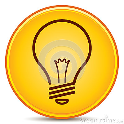 Free Light Bulb Icon Royalty Free Stock Photography - 25630757