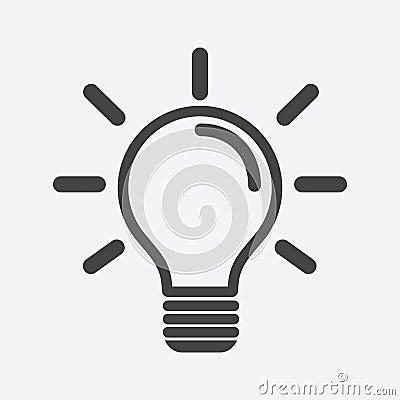 Free Light Bulb Icon In White Background. Idea Flat Vector Illustrati Stock Photo - 96384690