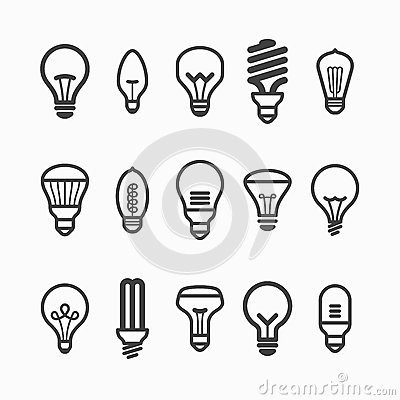 Free Light Bulb Icons Royalty Free Stock Images - 40031359