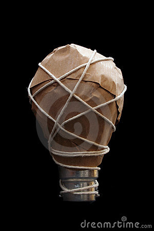 Free Light Bulb Idea Wrapped Royalty Free Stock Images - 660239