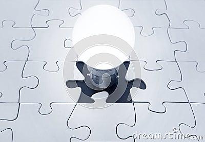 Light bulb jigsaw