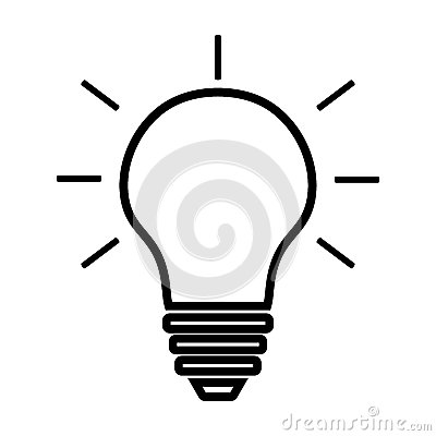 Free Light Bulb Line Icon Vector Isolated On White Background. Idea Sign, Solution, Thinking Concept. Lighting Electric Lamp. Stock Image - 87518601