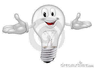 Light bulb mascot
