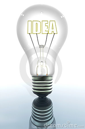 Light bulb showing an idea