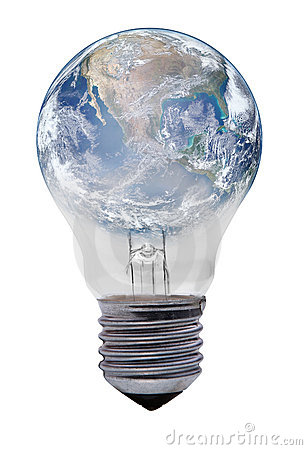 Free Light Bulb With Planet Earth Royalty Free Stock Photo - 23297905