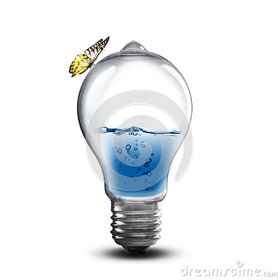 Free Light Bulb With Water And Splash Stock Images - 44651104