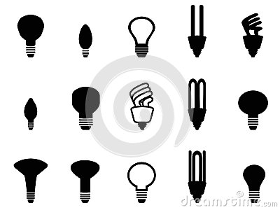Light bulbs shape collection