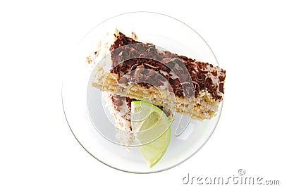 Light cake and lemon