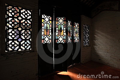 Light through the Chinese old style door