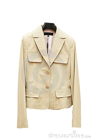 Light coloured jacket