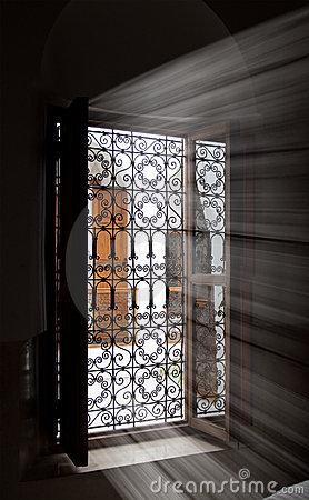 Light coming inside through a window