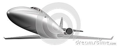 Light commercial jet plane