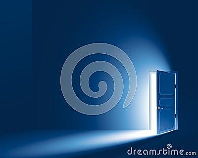 Light through a door