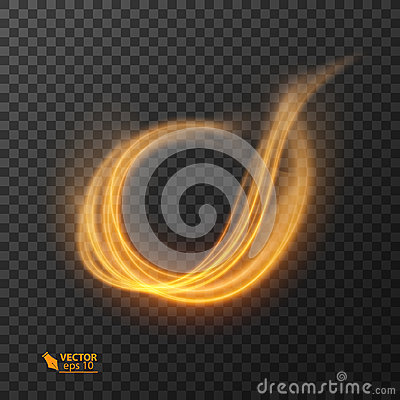 Free Light Effect Line Gold Vector Circle. Glowing Light Fire Ring Trace. Glitter Magic Sparkle Swirl Trail Effect On Royalty Free Stock Photography - 99179187