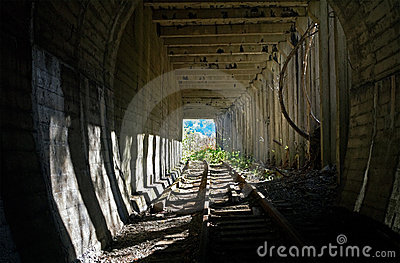 Light in  end of  tunnel