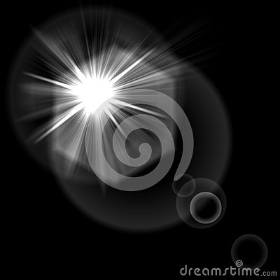 Light flare special effect. vector illustration.