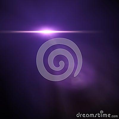 Light flare special effect. vector illustration.