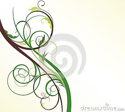 Light floral background