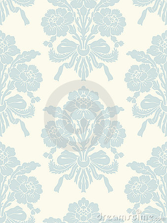 Light floral vintage seamless pattern