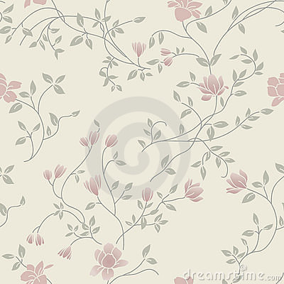 Light floral vintage seamless pattern