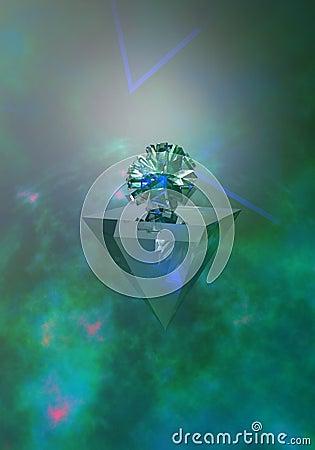 Light in glass Green