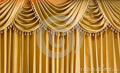 Light Gold vertical Curtain