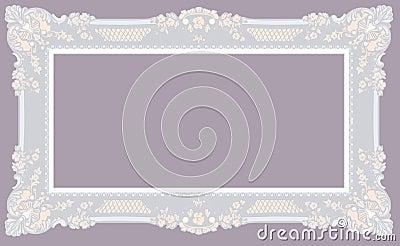 Light Gray Baroque Frame