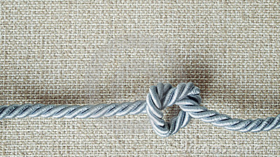 Light gray Rope tie a heart shape