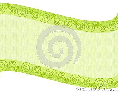 Light Green Folksy Swoosh Background
