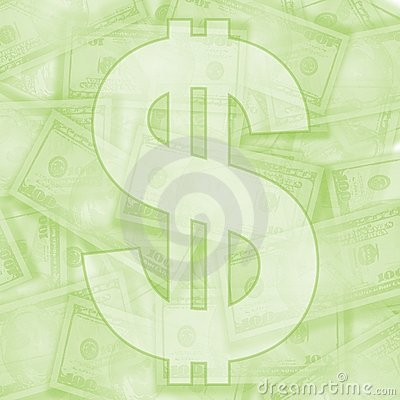 Light Green Money Background