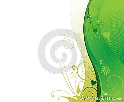 Light green plant wavy  frame