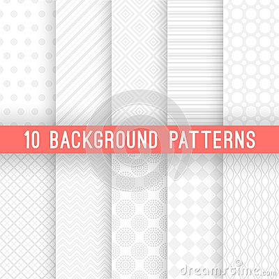 Free Light Grey Seamless Patterns For Universal Royalty Free Stock Image - 45890676