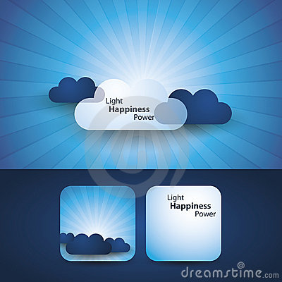 Light, happines, power - flyer or cover design