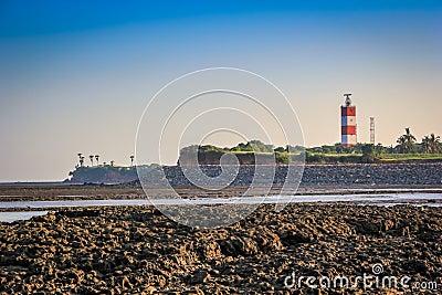 Light House Seashore Stock Photo