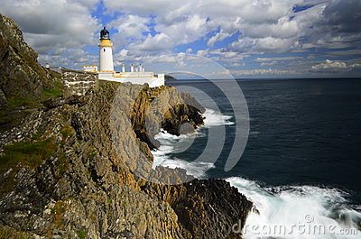 lighthouse on cliff edge normal day