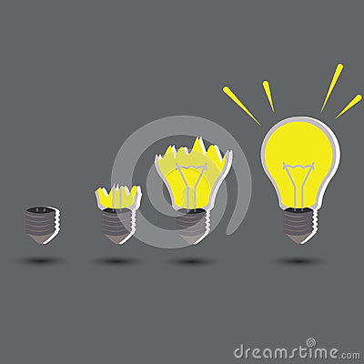 Free Light Idea Concept With Create Idea Royalty Free Stock Photography - 34101097