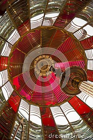 Light Inside First Order Fresnel Lighthouse Lens