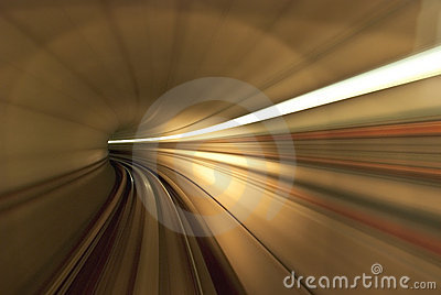 Light from inside the tunnel