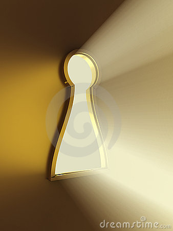 Light from the keyhole. 3D image