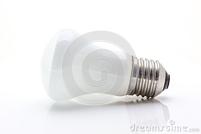 Light lamp on white