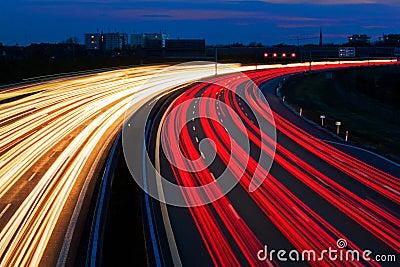 Light line of Highway