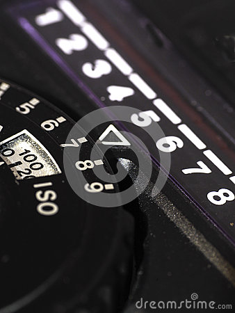Light meter close up