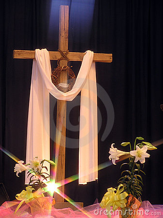 Free Light On An Easter Cross Royalty Free Stock Images - 2026389
