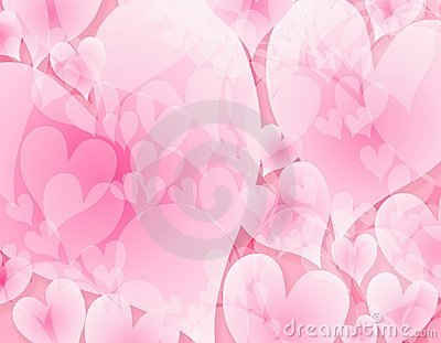 Light Opaque Pink Hearts Background